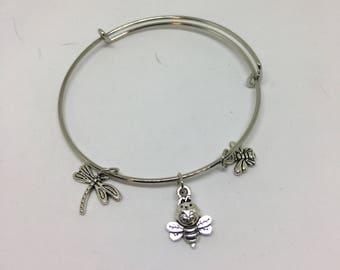 Charm Bangle Bracelet