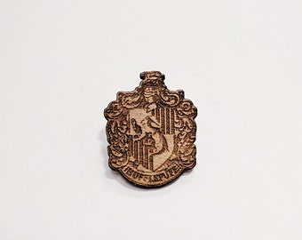 Harry Potter- Hufflepuff Pin HAND PAINTED