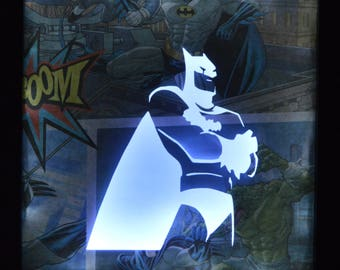 Comic Book Inspired Box Frame Lights - Batman