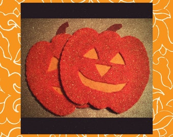 Perky Pumpkin Drink Coaster set (2)