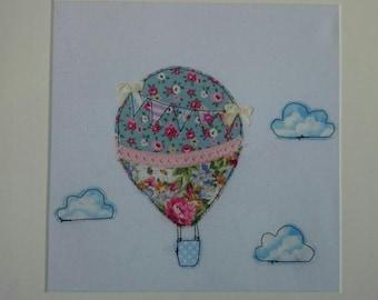 Handmade sewn hot air balloon frame