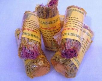 6 in 1 packet Handmade Lumbini Rope Incense (Dhoop)