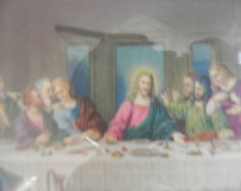 4x5 Last Supper picture in a frame.  Great color