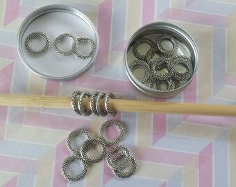 Snaggless Tibetan Silver Stitch Markers