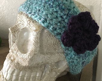 Cozy Blue Crochet Ear Warmer