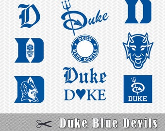 Duke Blue Devils Layered SVG PNG logo Vector Cut File Silhouette Studio Cricut Design Template Stencil Vinyl Decal Tshirt Transfer Iron on
