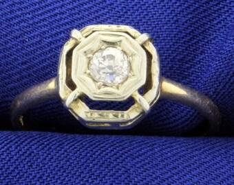 Antique 1/4ct Diamond Ring