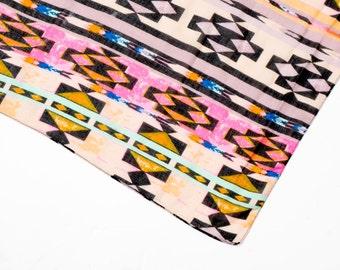 Infinity scarf, graphic tube scarf, Aztec print scarf, snood, loop scarf, geometric print scarf, women's tube scarf, ladies graphic scarf,