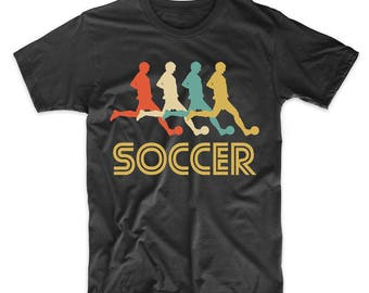 Soccer Player Retro Pop Art Soccer Graphic T-Shirt