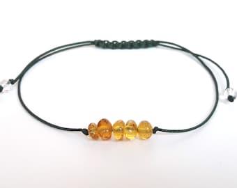 Minimalist amber bracelet cognac amber bracelet knotted amber bracelet amber bracelet adults amber jewelry bracelet amber gift idea