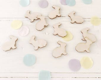 Easter Bunny Wooden Table Confetti