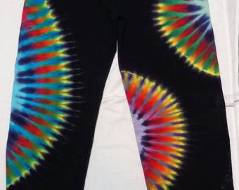 Tie Dye Sweatpants M Colorful Psychedelic Trippy Tiedye Size Medium Black Blue Green Purple Red Yellow