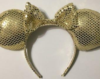 Sparkly/shiny gold Mickey Ears
