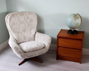 1960's Danish Swivel Arm Chair
