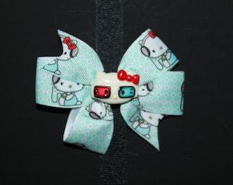 Hellokitty inspired hair bow
