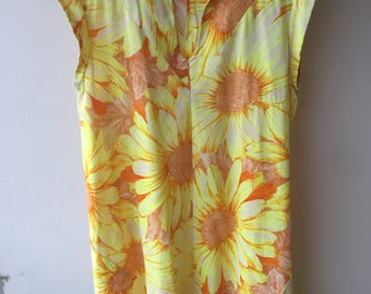 Summer Daisy Sun Dress with Pockets