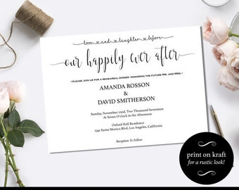 "Love and laughter before happily ever after invitation - ""Happily Ever After"" Wedding Invitation Instant Download #WDH21"