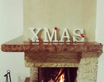 Written in ornate wooden XMAS and customizable