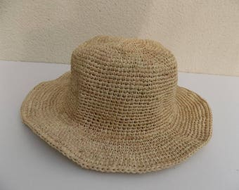 Hat, man, woman, child, straw hat, natural raffia, natural, handmade, holiday, beach, crochet, fashion, trend was