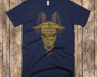 Capricorn Shirt, January Shirt, December Birthday Shirt, Zodiac Tee, Zodiac Shirt, Birthday Shirt, Birthday T Shirts, Zodiac T Shirt