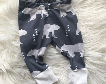 Bear leggings, wild one, animal print leggings