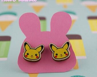 boucles d'oreilles pikachu