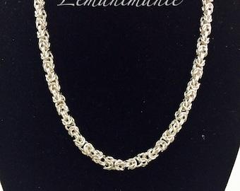Byzantine/byzantine chainmail Choker chainmail necklace