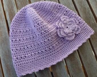 Hat crochet cotton hat 2 sizes