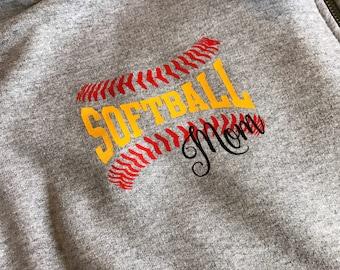 Softball Mom 1/4 Zip | Softball Mom Jacket | 1/2 Zip Softball Jacket
