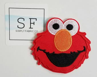 Elmo Iron on Patch - Sesame Street Elmo Applique' - Ready to Ship
