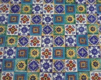 MEXICAN TALAVERA TILES X 100 ( 3cm x 3cm each ) Set A