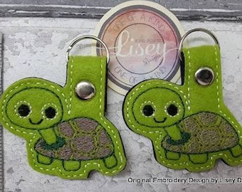 Digital File: 2 Tortoise Key fobs by Lisey Designs