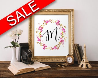 Initial Wall Art initial poster | etsy