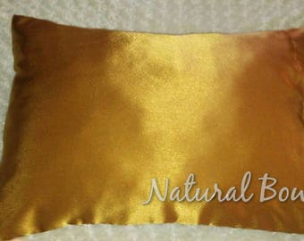 Gold Satin Pillowcase