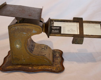 Antique Standard Model S-2 Pelouze Postal Scale circa 1930's