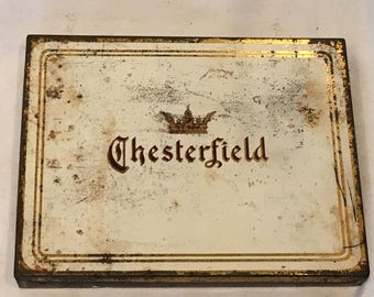 Vintage Chesterfield Cigarettes Richmond Virginia Tin - FREE SHIPPING!