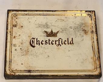 Vintage Chesterfield Cigarettes Richmond Virginia Tin - FREE SHIPPING!