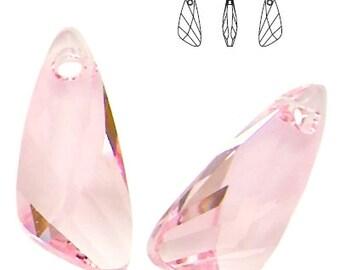 Swarovski Elements, 6690, Wing, Light Rose, 23mm, Swarovski Wing, Swarovski crystal, Rose crystal, Light Rose crystal