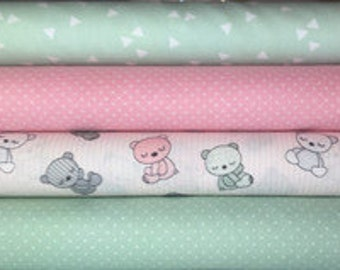 Fabric package, mint pink kind. 7913