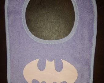 Baby Girl Batman Bib