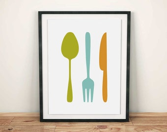 search q fork and spoon wall decor
