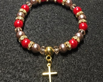 Cross series  (Red and Rose brown)