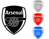 ARSENAL Football Club Quality Vinyl Decal; Arsenal FC; Yeti Decal, Car Decal, Laptop Decal, Gifts for Him, Gifts for Her, FAST Shipping!!