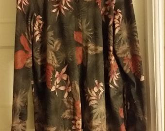 La Cabana Long Sleeve Hawaiian Shirt/Size XL