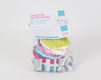 Reusable cleaning wipes in cotton