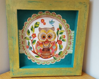 3D OWL wooden square chassis