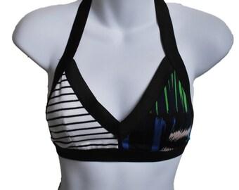 bralette with mismatched sides and elastic straps // stretch knit bralette // sports bra // unpadded bra