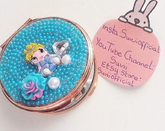 Kawaii Disney Cinderella Heart Compact Mirror