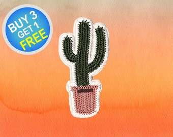 Cactus Patches Cute Patches Patch Iron On Patch Embroidered Patches