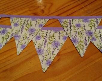 Pretty Lavender Bunting